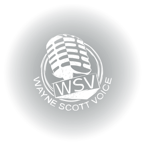 Wayne Scott Voice Over Actor Branding Logo